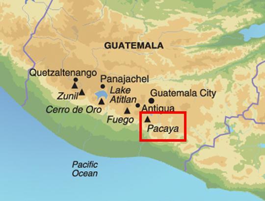 map guatemala pacaya