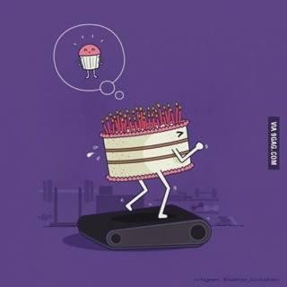 running cake