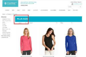 coolibar plus-size clothing