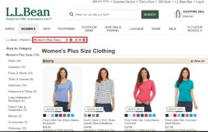 l.l. bean-plus-size clothing