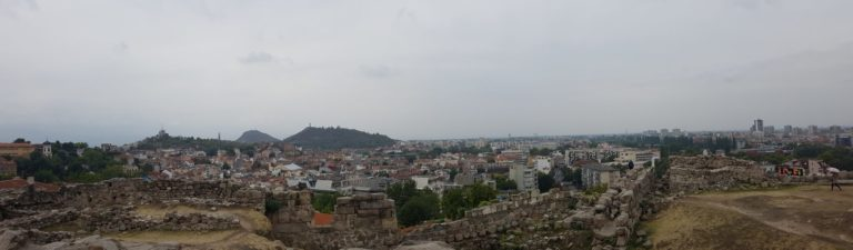 View of Plovdiv from Nebet Tepe Complex
