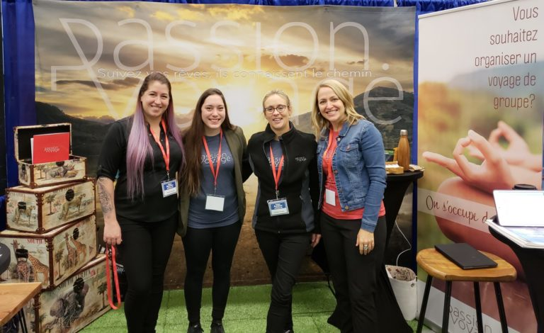 montreal outdoor adventure show passion.voyage travel agency plus-size backpacker