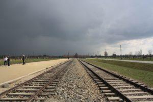 Auschwitz Birkenau Poland plus-size backpacker