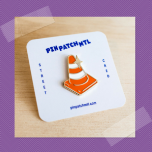 Pin Patch Mtl orange cone