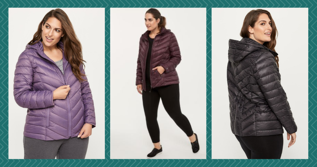 plus-size travel gift guide Penningtons Active Zone Plus Size Packable Hooded Jacket