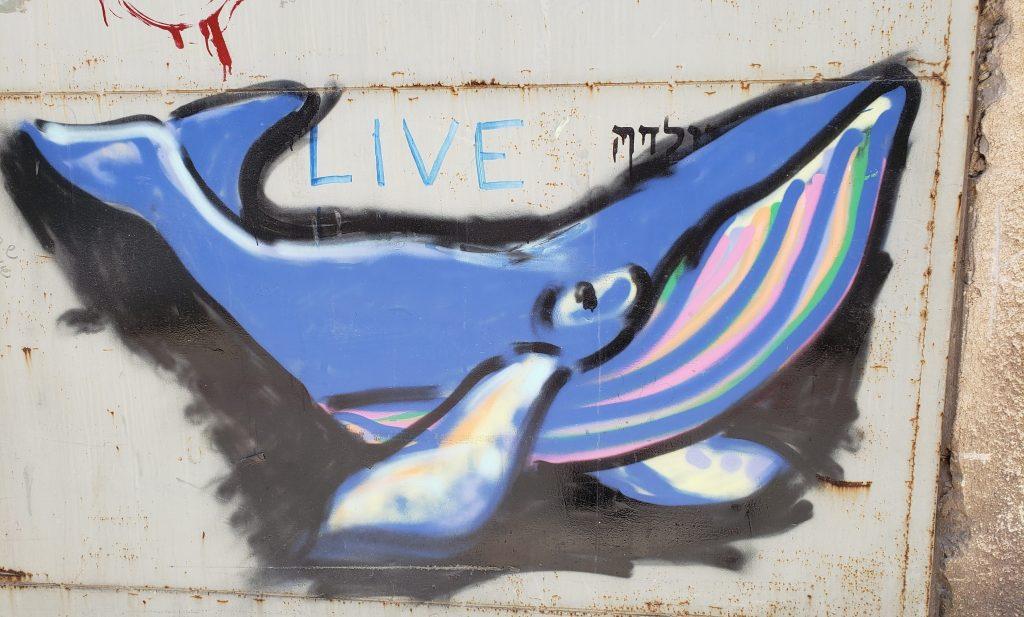 Jaffa Street Art baleine